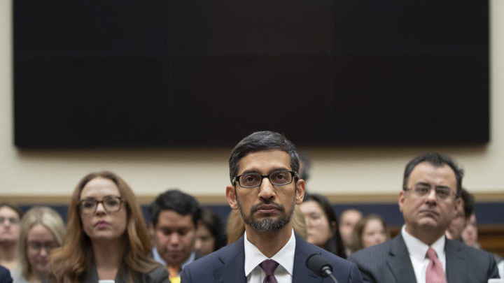 Congress asks Google CEO tough questions on user privacy, bias