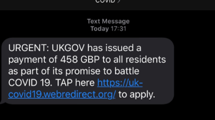 London coronavirus: Scam texts offering free money from government to look out for