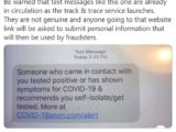 Beware phishing text messages pretending to be NHS contact tracers