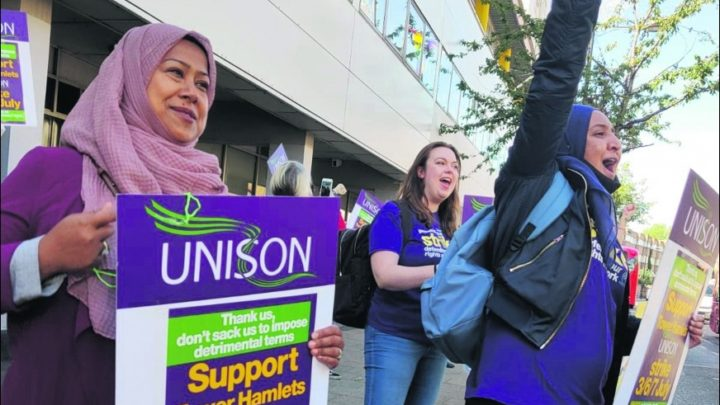 Unison general secretary candidate and Socialist Party member Hugo Pierre speaking during an anti-racism demo in 2017. Click here for the latest artic…